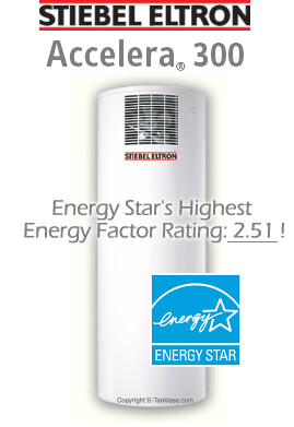 Stiebel Eltron Accelera 300 Heat Pump Water Heater