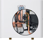 internal view of the Stiebel Eltron tankless water heater